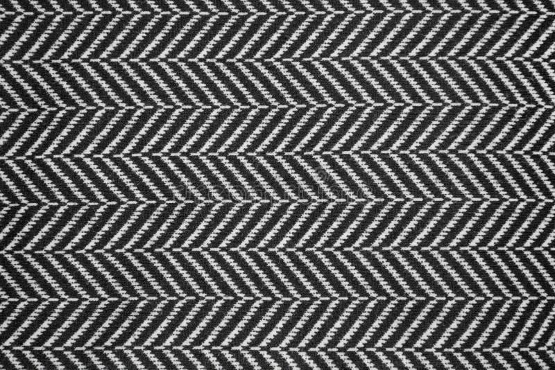 Black & white linen texture stock photography