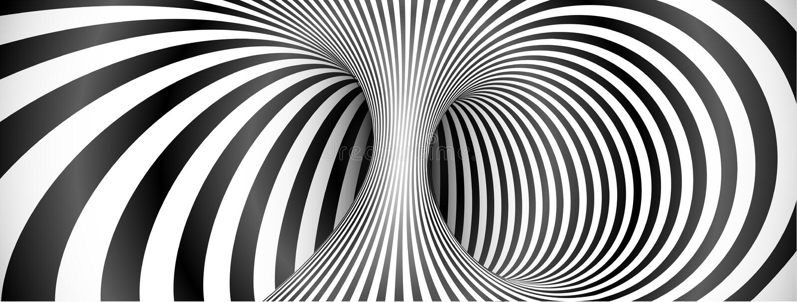 Line Optical Designory : Black and white lines optical illusion background stock