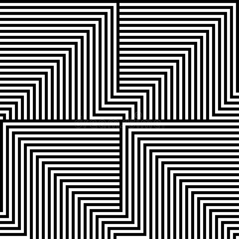 Download Black And White Lines Pattern Stock Illustration - Illustration: 32744678