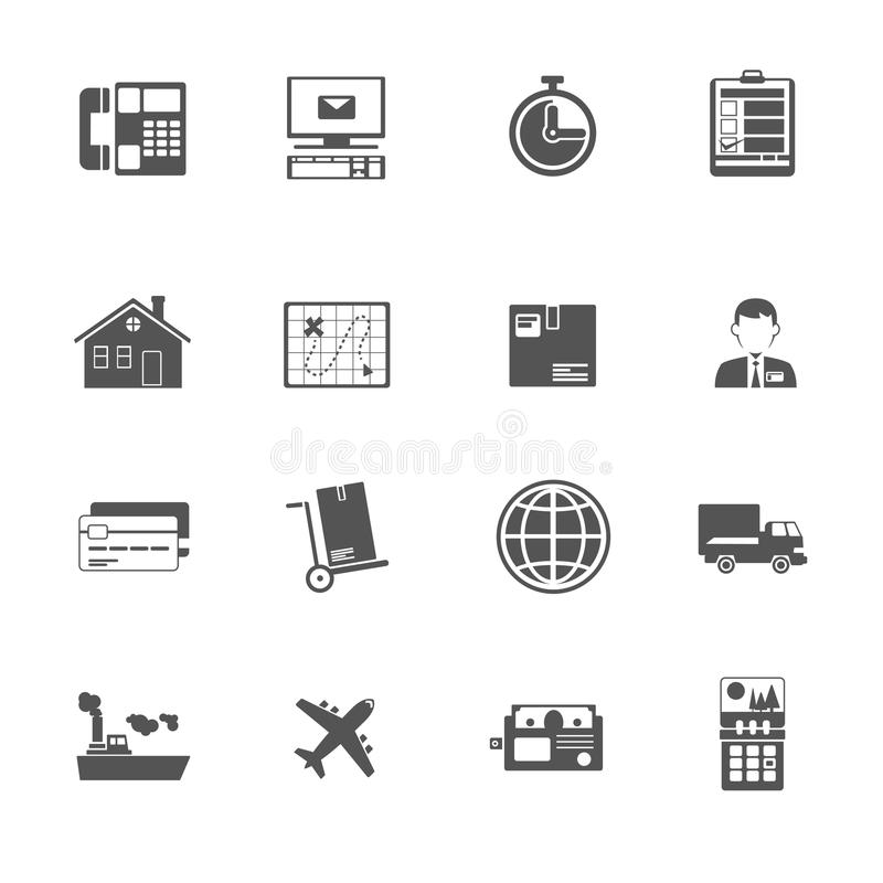 Black and white logistic service icon royalty free illustration