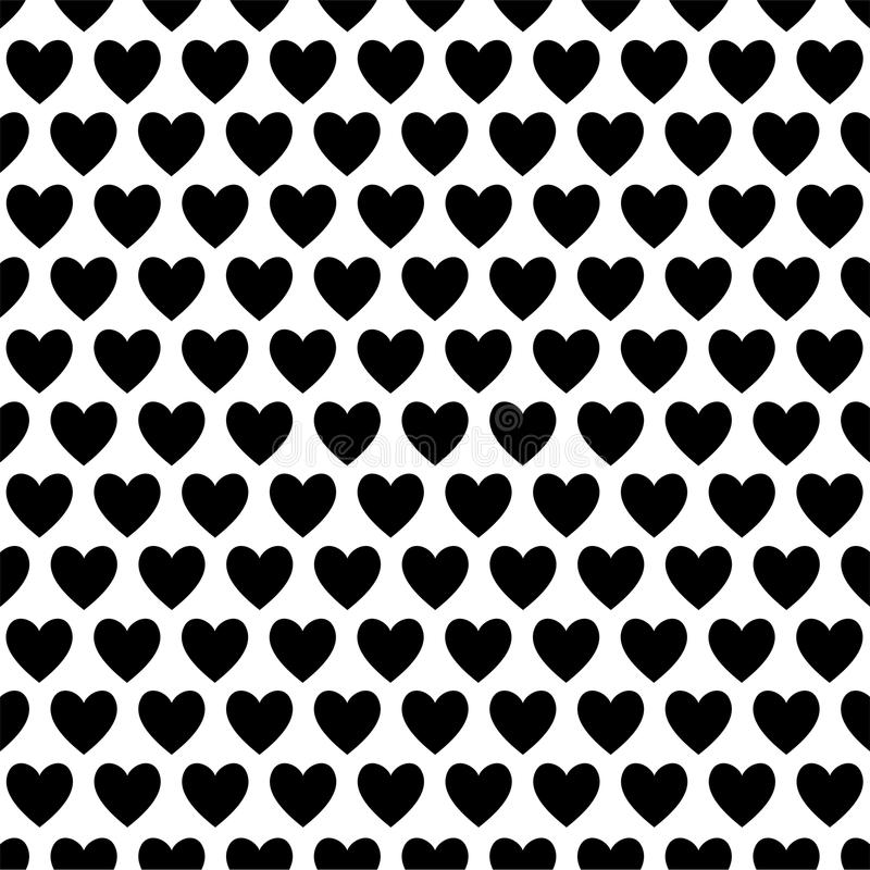 Black and White Love Hearts stock illustration