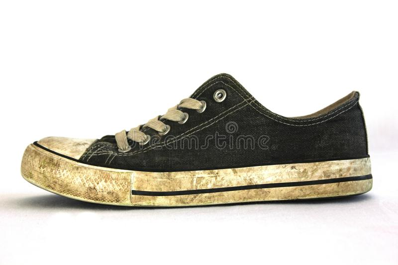 Black White Low Tops Sneakers royalty free stock photography