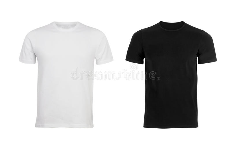 Black and white man T-shirt stock photos