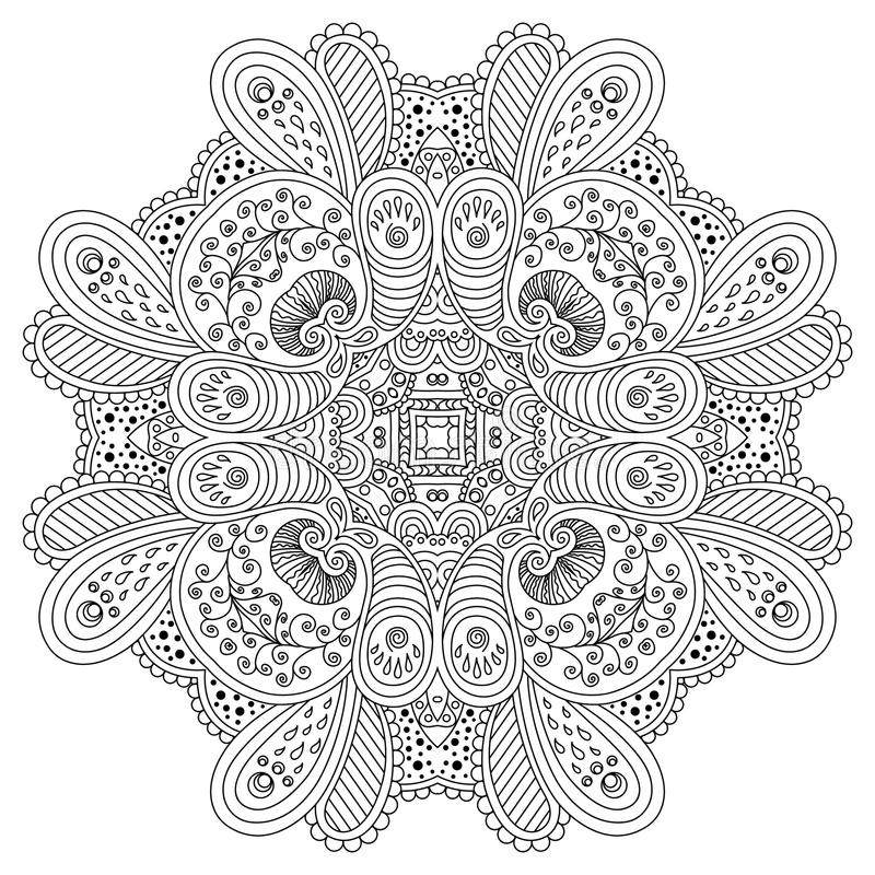 Black and white mandala. vector illustration
