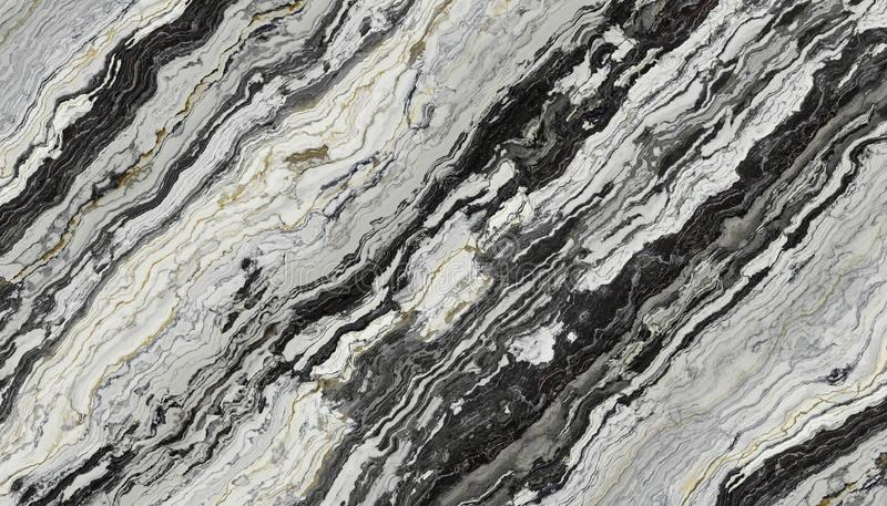 Black and White marble royalty free illustration