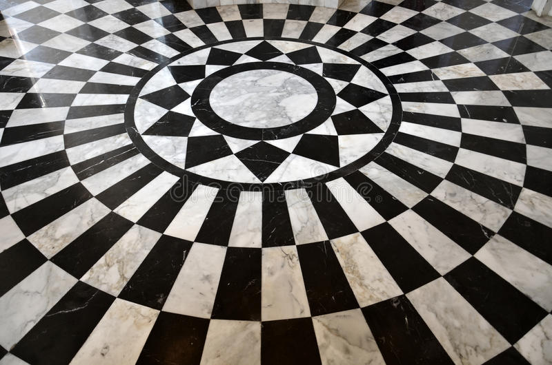 Captivating Black And White Marble Floor Pattern Stock Images
