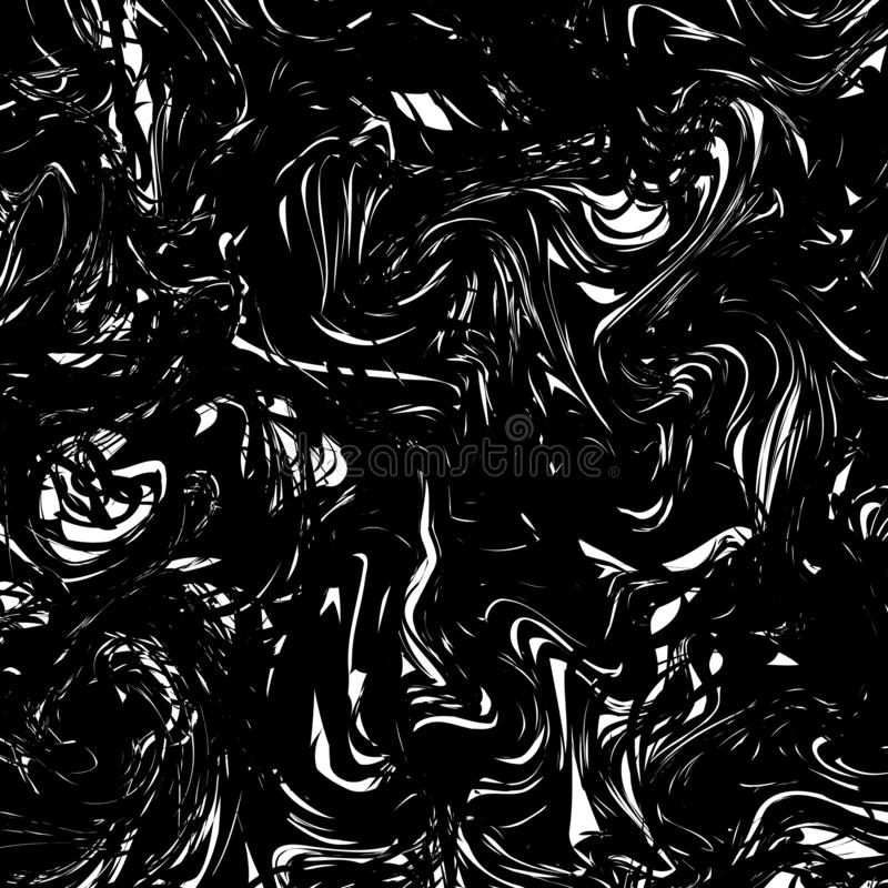 Black and white Marble texture background. Monochrome marbling t vector illustration