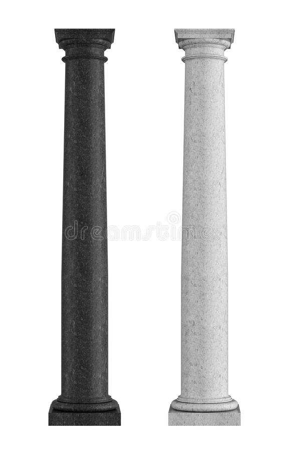 Download Black And White Marble  Tuscan Column Stock Illustration - Image: 27645119