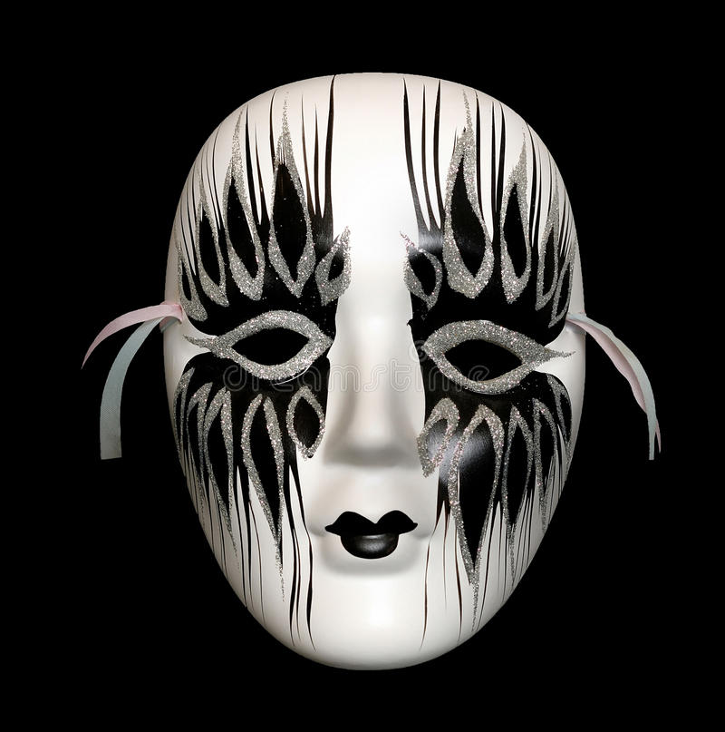 Download Black-and-white mask stock image. Image of costume, conceal - 16928183