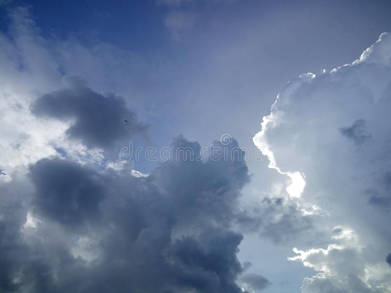 Black and white mixed sky royalty free stock image