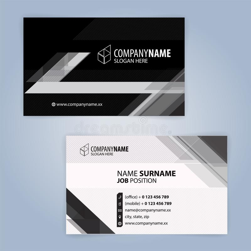 Black and white modern business card template stock vector download black and white modern business card template stock vector illustration of design decoration cheaphphosting Images