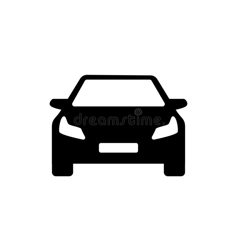 Black and white modern car simple logo royalty free illustration