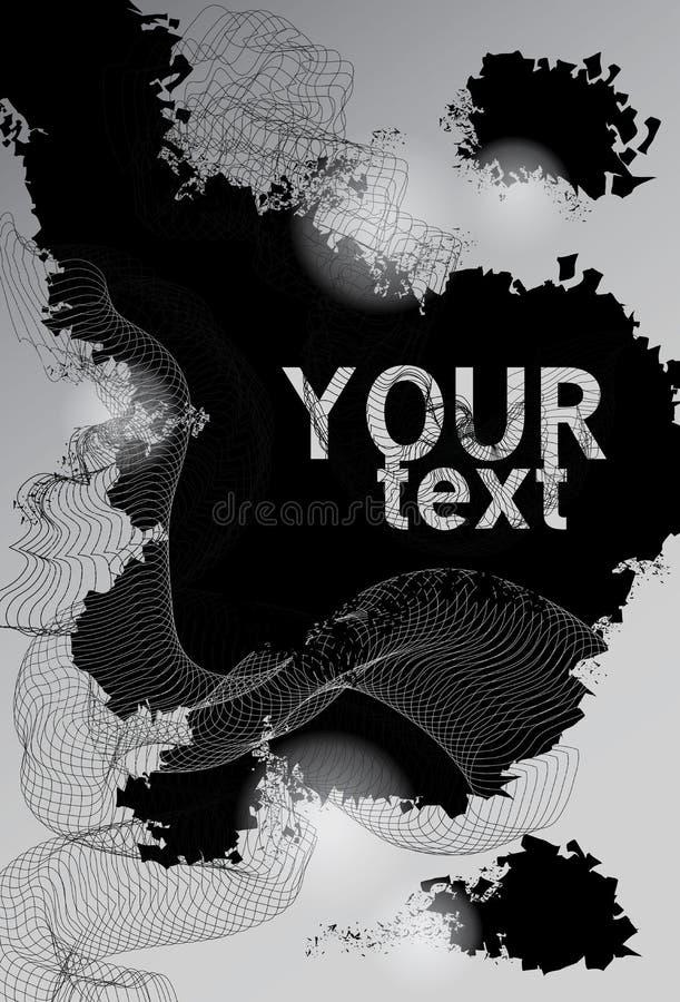 Modern black and white background stock illustration