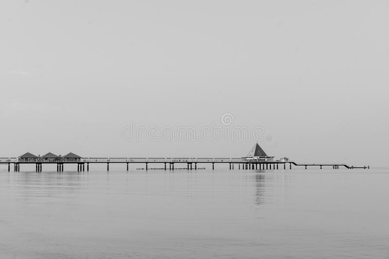 Black And White, Monochrome Photography, Calm, Horizon royalty free stock photos