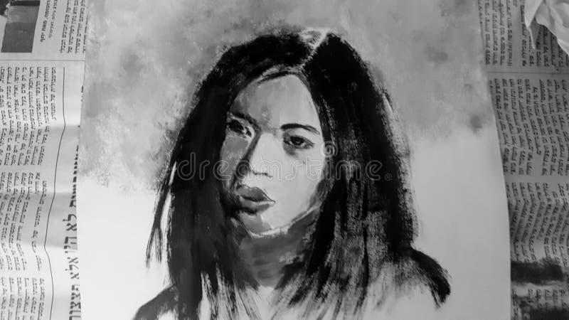 Black, Black And White, Monochrome Photography, Portrait stock image