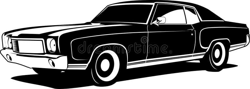 Black and white montecarlo stock illustration