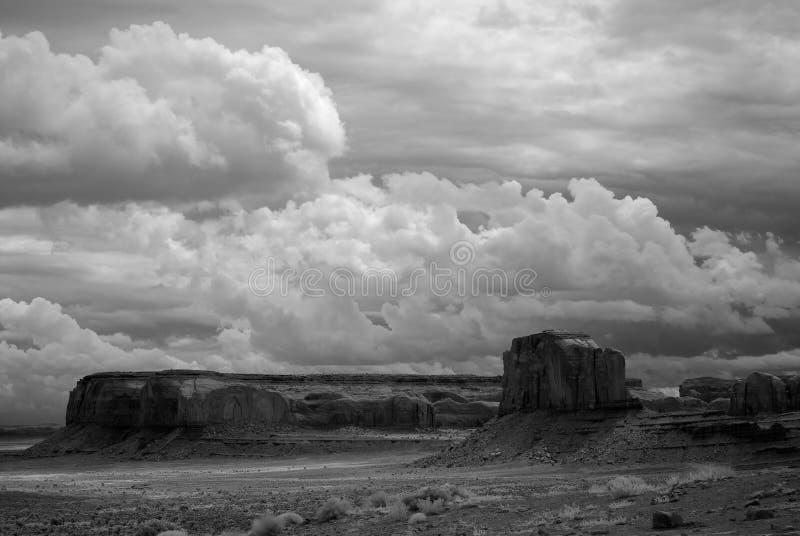 Black and White Monument Valley Arizona USA Navajo Nation. Monument Valley north east Arizona Navajo Nation USA black and white stock image
