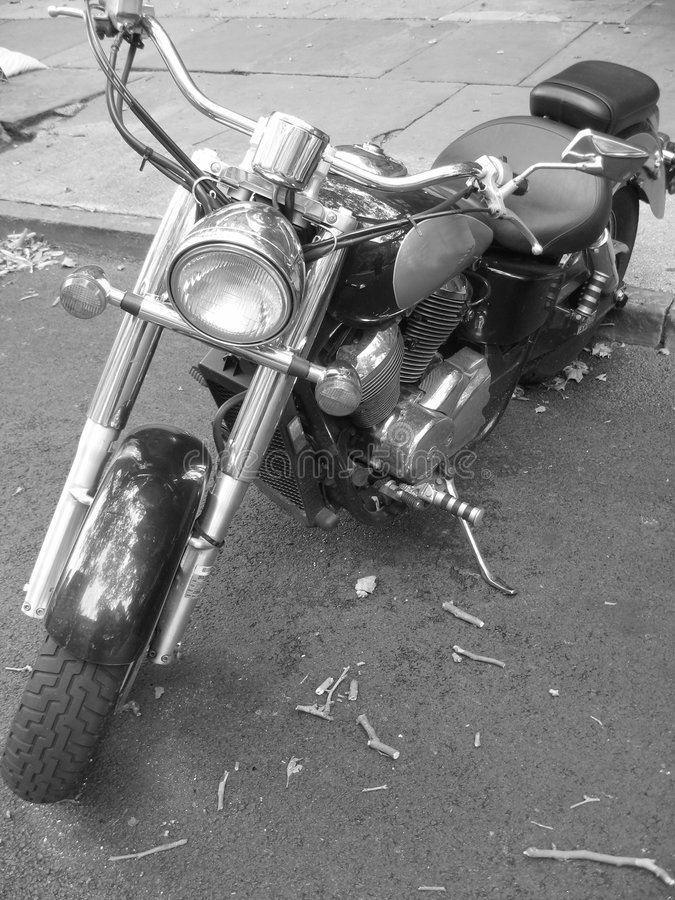 Black and white moped royalty free stock images