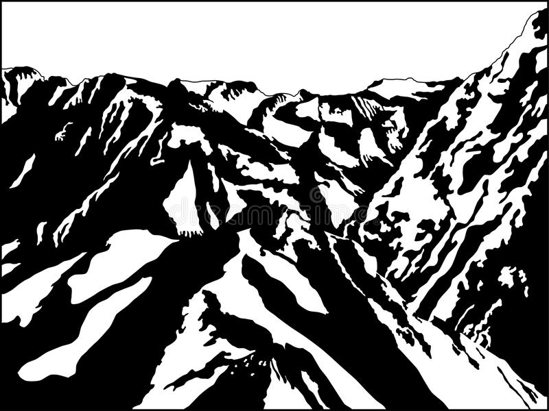 Black And White Mountain Stock Images