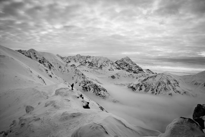 black and white mountain stock photography