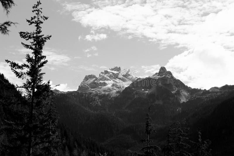 Black & White Mountains stock photo