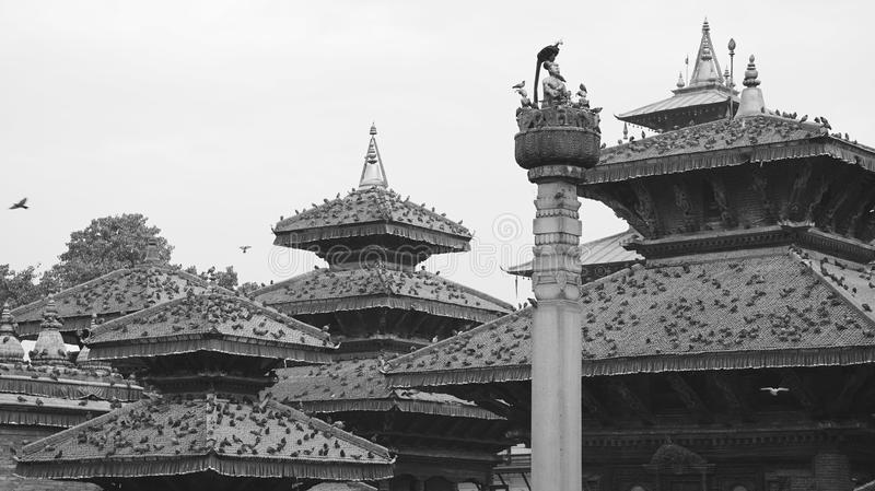 Black and white Nepal (series) stock images