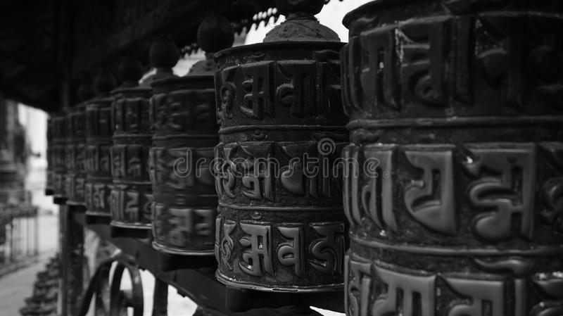 Black and white Nepal (series) royalty free stock image