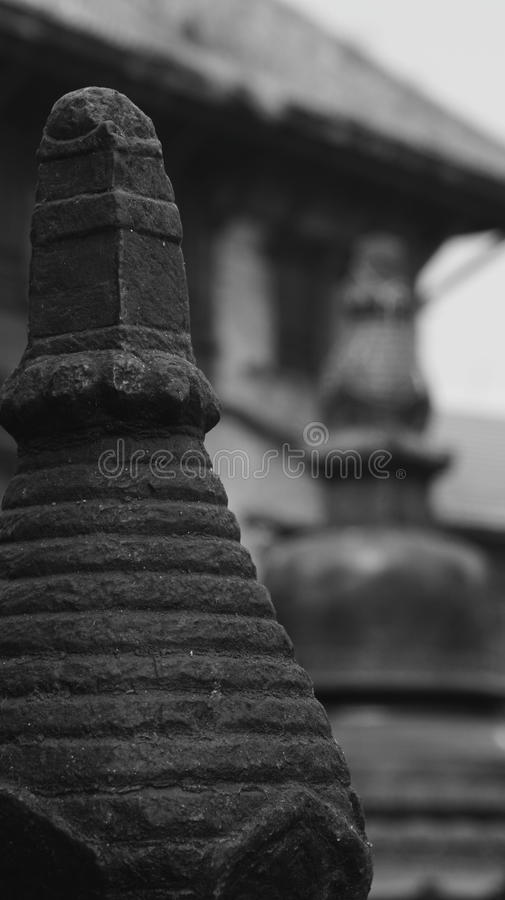 Black and white Nepal (series) royalty free stock photography
