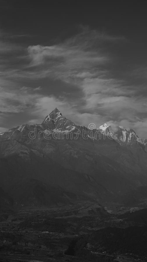 Black and white Nepal (series) stock photography