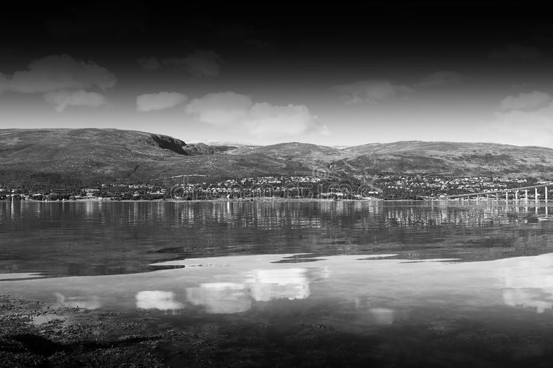 Download black and white norway community landscape background stock image image of postcard object