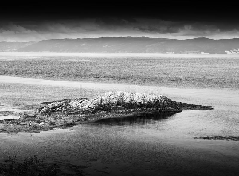 Download black and white norway island landscape background stock photo image of backdrop ocean