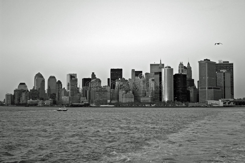 Black and white NYC Skyline stock photos