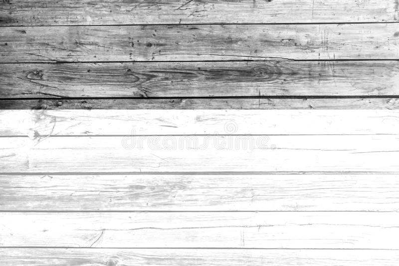 Black and white old wood texture with natural patterns background. Wooden backdrop board closeup design detail gray material plank rough surface timber wall royalty free stock photography