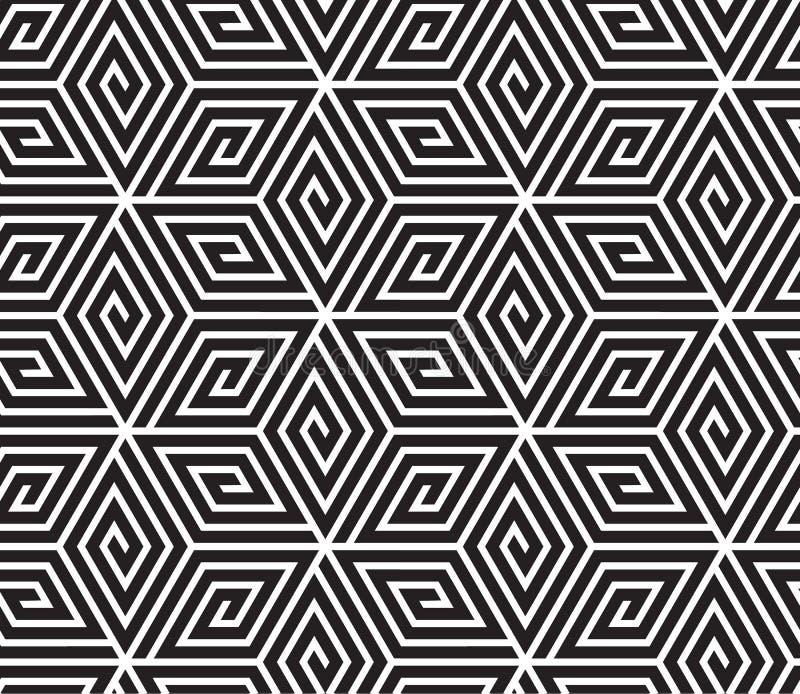Black and White Op Art Design stock illustration