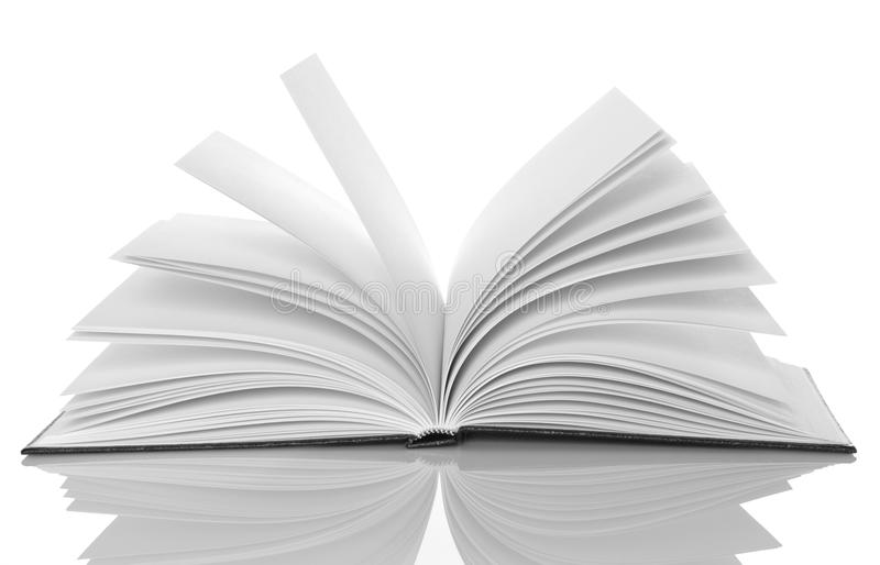 Black And White Book Cover : Black and white open book stock image of
