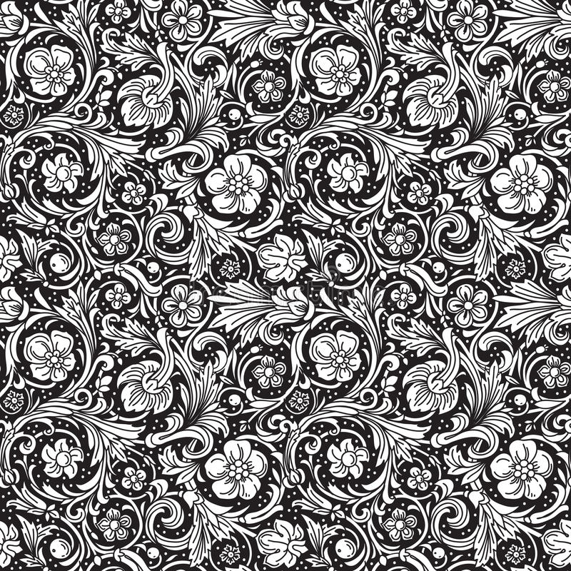 Download Black And White Ornamental Seamless Vector Pattern Stock Vector - Image: 38575619