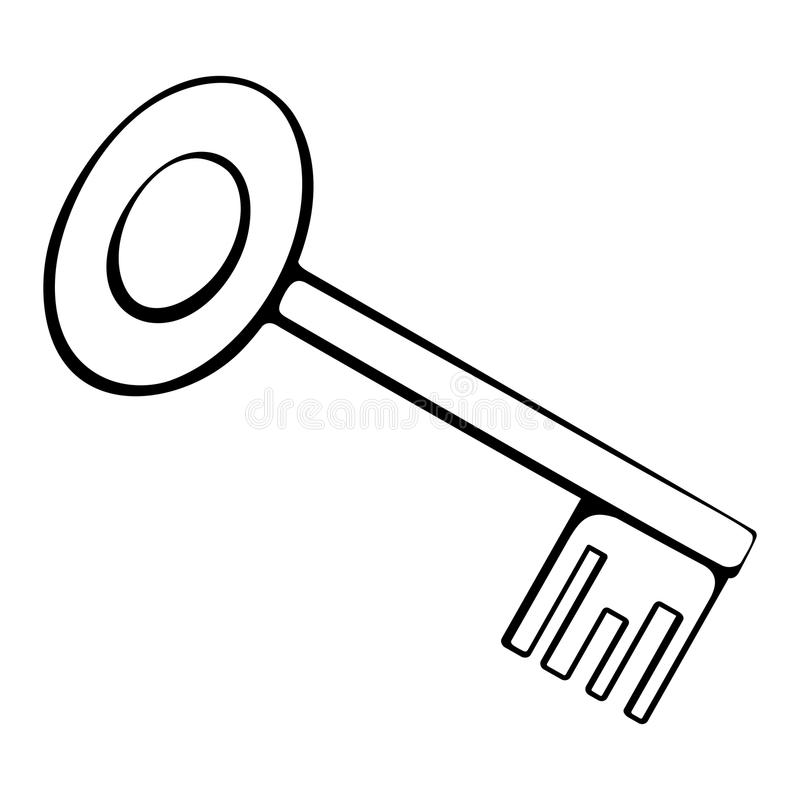 Door key page coloring pages for Key coloring page