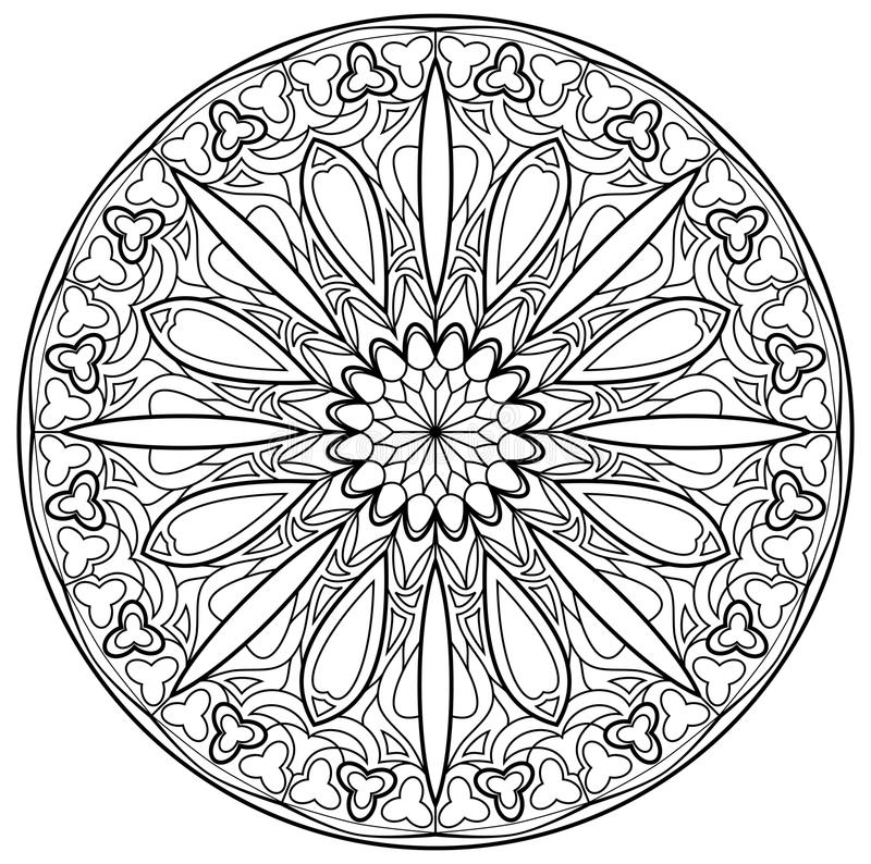 Black and white page for coloring fantasy drawing of beautiful download black and white page for coloring fantasy drawing of beautiful gothic rose window with thecheapjerseys Gallery