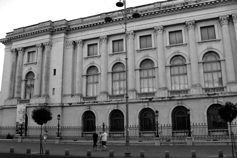 Black&White Palácio do rei romeno Carol mim Bucareste - Bucuresti fotografia de stock