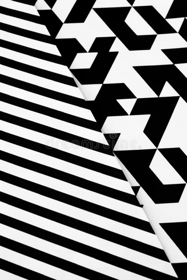 Black and white pattern. A background of an abstract pattern in black and white royalty free stock photo