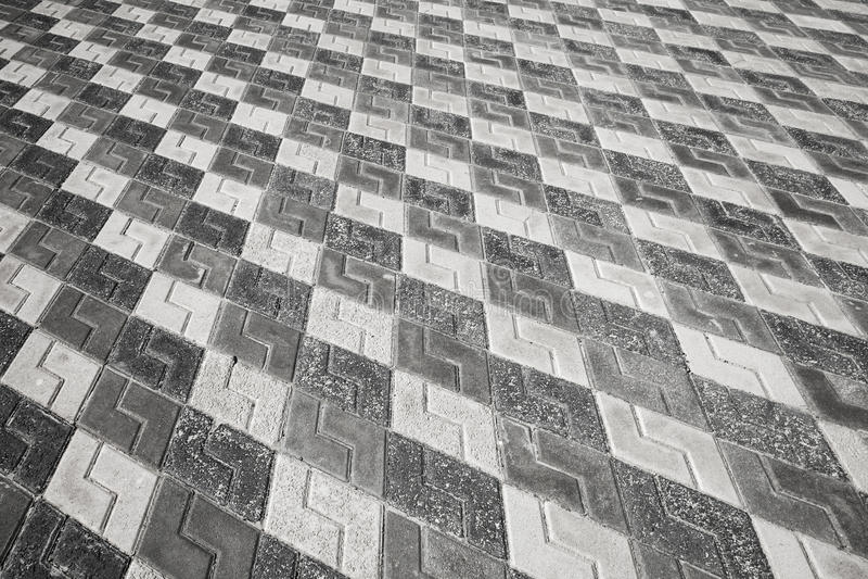 Black And White Pattern Of Cobblestone Pavement Stock ...