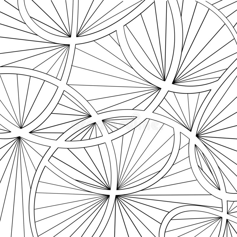Black and white pattern coloring book for children and adults. Vector. Illustration royalty free illustration