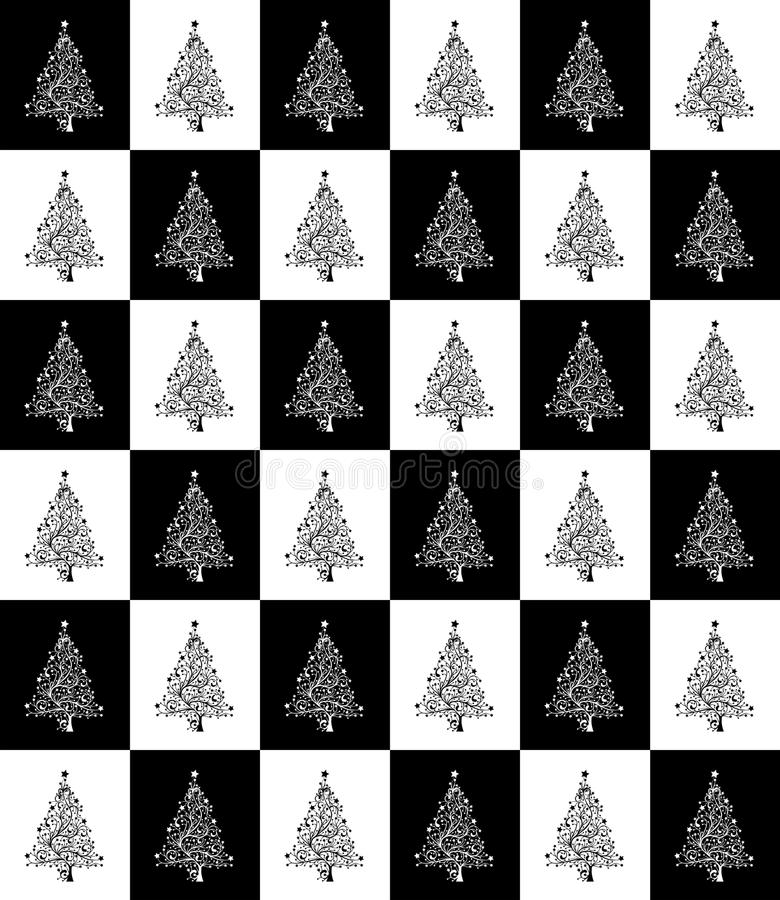 Black And White, Pattern, Design, Christmas Tree stock photos