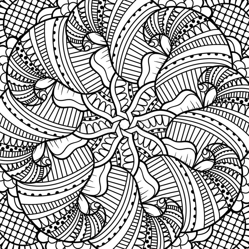 Black and white pattern. stock illustration