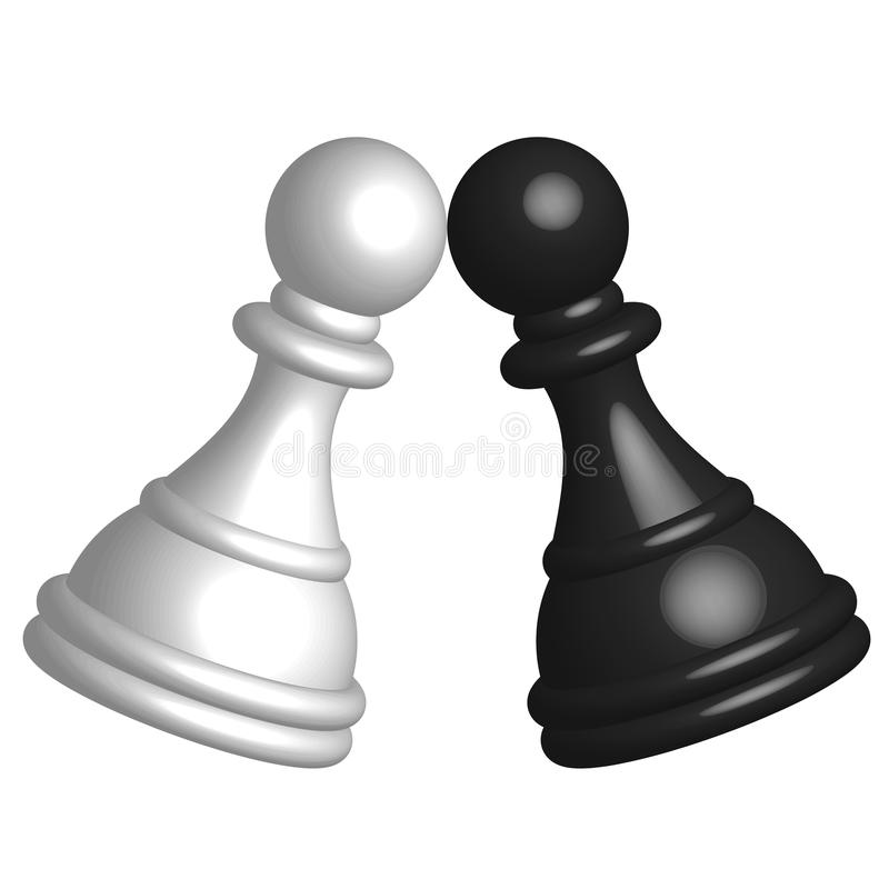 Download Black and white pawn stock vector. Image of battle, hobby - 24967770