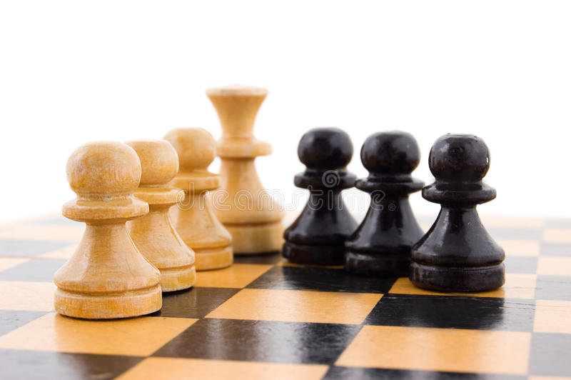 Download Black and white pawns stock image. Image of move, conflict - 20294703