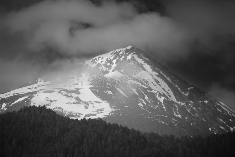 Black and white peak royalty free stock photos