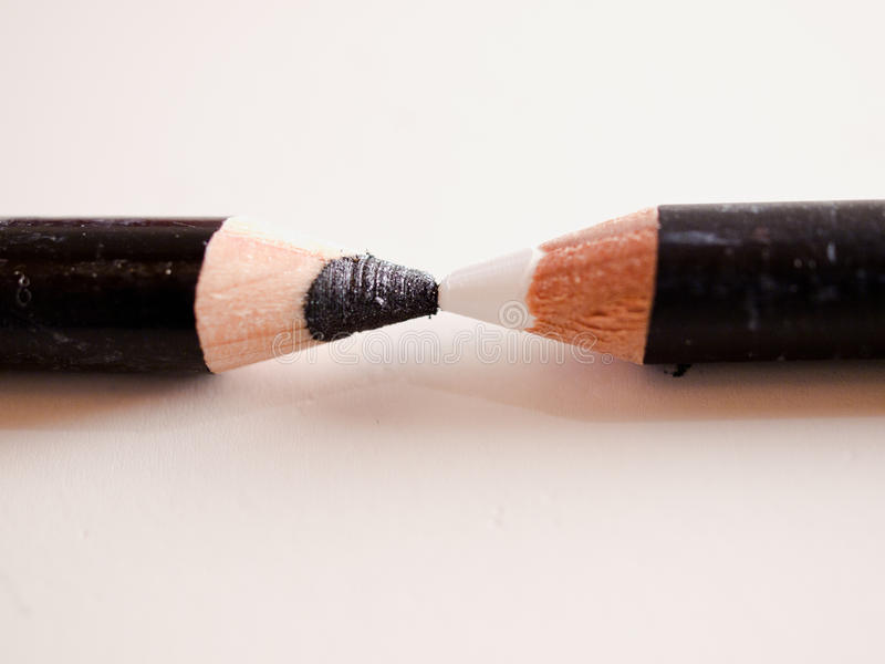 Download Black & White pencils stock image. Image of feature, opposite - 16971415