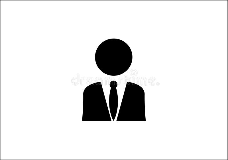Person icon for devices or web applications. Black on white person icon for devices or web applications profiles stock illustration