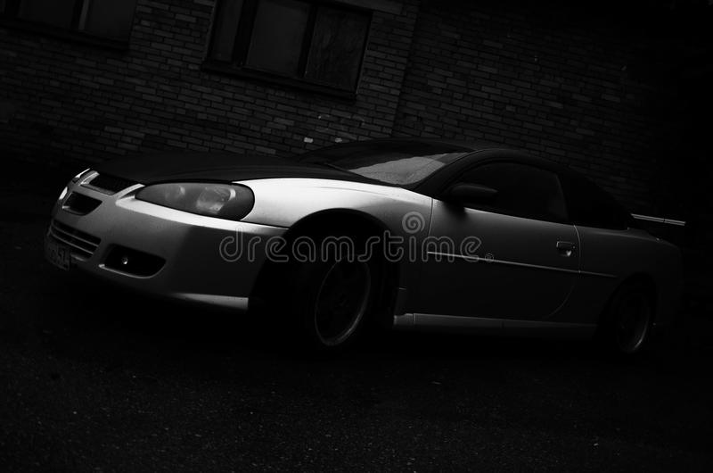 Black and white photo auto royalty free stock photography